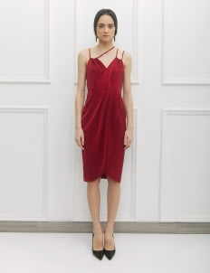 NADIYA Red Val Dress