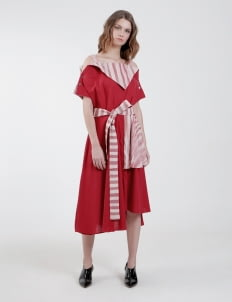 PURANA RTW Red Sheena Dress