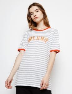Muzca White Stripes Love Junkie Tee