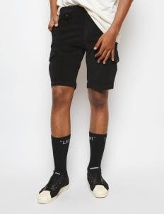 Muzca Black Corduroy Shorts