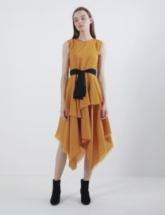Oemah Etnik Yellow Derawan Tenun Dress