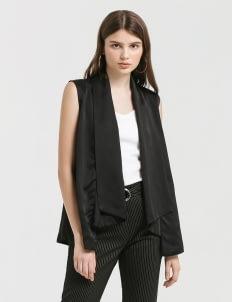 CLOTH INC Black Waterfall Vest