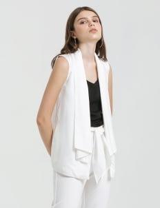 CLOTH INC White Waterfall Vest
