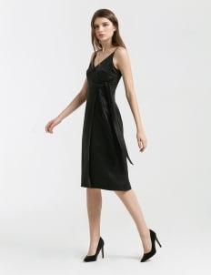 CLOTH INC Black Carly Strap Dress
