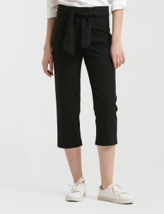 CLOTH INC Black Tied Piper Pants