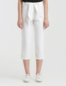 CLOTH INC White Tied Piper Pants