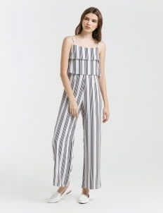 CLOTH INC Stripes Fern Double Layered Jumpsuit