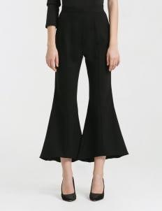 CLOTH INC Black Flared Hem Pants