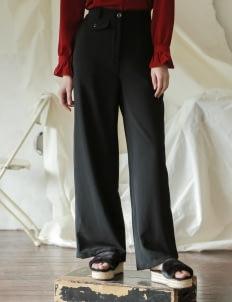 Commonwear Black Sabra Pocket Pants