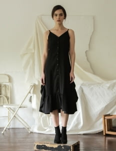 Commonwear Black Cosmo Maxi Line Dress