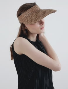 Hey Mermaid Beachwear Light Brown Visor Hat