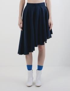 Mera Mera Studio Navy Lilia Asymmetric Skirt