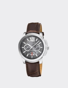 Guy Laroche Dark Brown G3014-01 Leather Watch