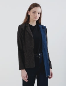 Calla The Label Brown & Blue Bean Blazer