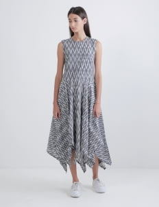 IKAT Indonesia by Didiet Maulana Grey Kamala Dress