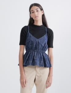 IKAT Indonesia by Didiet Maulana Blue Vimala Tank Top
