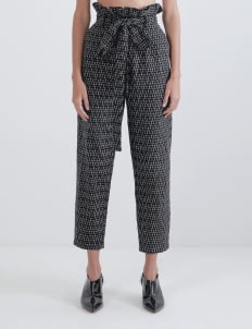 IKAT Indonesia by Didiet Maulana Black Raiya Ruffle Pants