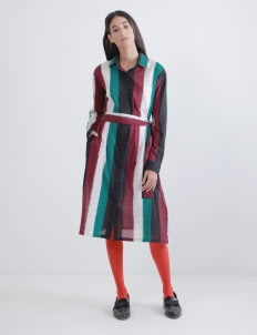 IKAT Indonesia by Didiet Maulana Multicolor Senja Shirt Dress