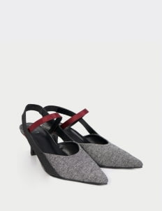WATT - Walk the Talk Gray & Red Crane Heels