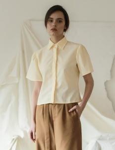 Commonwear Yellow Luna Puff Sleeve Top