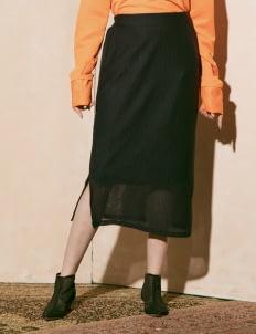 ATS THE LABEL Navy Yenna Skirt