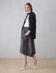 Wastu Black Soft Parka Jacket