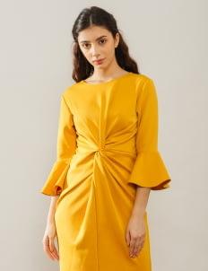 Bel. Corpo Mustard Gistha Dress