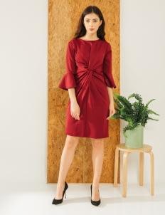 Bel. Corpo Maroon Gistha Dress
