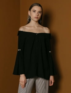 M By Mischa Black Warlow Top