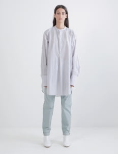 saptodjojokartiko Gray Embroidery Linen Shirt