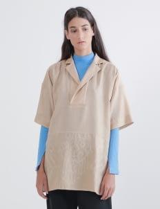 saptodjojokartiko Khaki Clio Linen Shirt