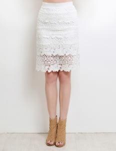 Jolie White Keiko Skirt