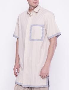 KOMMA Cream Blau Long Shirt
