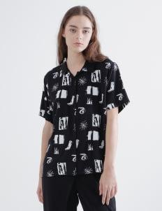 Aesthetic Pleasure Black Reflection Shirt
