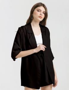 CLOTH INC Black Luke Oversized Blazer