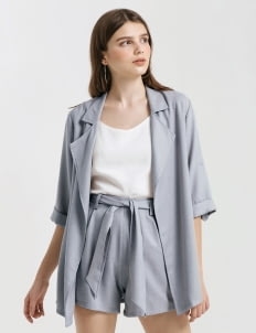 CLOTH INC Powder Blue Luke Oversized Blazer