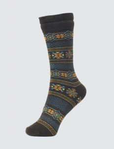 Pattent Goods Brown Elga Socks