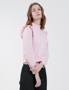 Someday Baby Pink Bianca Ruffle Top