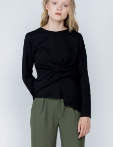 Shopatvelvet Black Joan Top