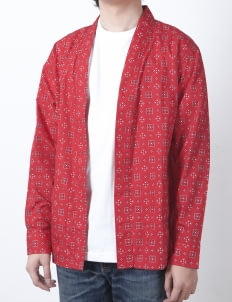 QUTN Red Bandana Throw On Kimono