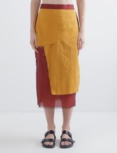 Oemah Etnik Red Amira Tenun Skirt