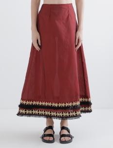 Oemah Etnik Red Medina Tenun Skirt