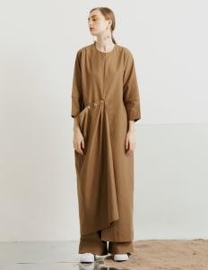 ATS THE LABEL Brown Fiyzi Dress