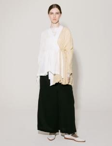 I.K.Y.K Yellow & Off White Tsubaki Kimono Outer