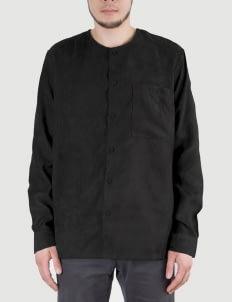 Heim Black Common Suede Shirt