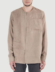 Heim Brown Common Suede Shirt