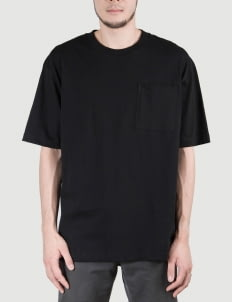 Heim Black Basic Boxy Tshirt