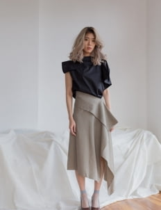 Shopatvelvet Khaki Jack Skirt