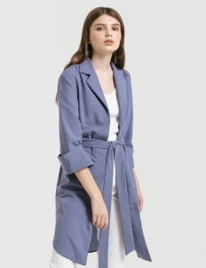 CLOTH INC Blue Maxi Tied Belt Outer