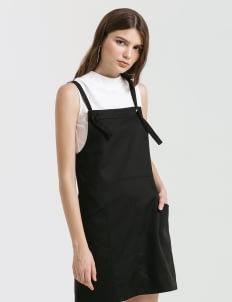 CLOTH INC Black Raven Pinafore Dress